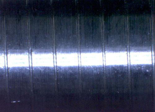 数値制御3ロール全自動転造機、ピッチ合わせ後のネジ山の形状