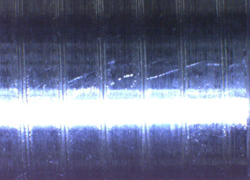 数値制御3ロール全自動転造機、ピッチ合わせ前のネジ山の形状